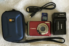 Canon PowerShot A3100 IS 12.1MP Digital Camera~~Red~~Excellent~~