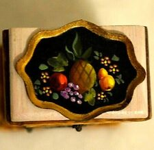 Dollhouse Artisan Fruit Tray Painted 1:12 Artist Pam Mercer