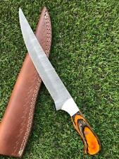 "12.5 "" CUSTOM HANDMADE TWIST DAMASCUS STEEL FILLET KNIFE X 31"