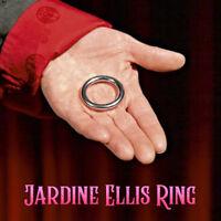 Magician's Jardine Ellis Ring With Book Silver Metal Penetration Magic Trick