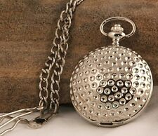 Stunning Silver Plated Golf Style Pocket Watch WOW!