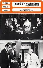 FICHE CINEMA : TEMPETE A WASHINGTON - Tone,Fonda,Preminger 1962 Advise & Consent