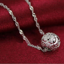#1 Fashion 925 Silver Crystal Heart Pendant Necklace Chain Jewelry 131465631261