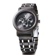 LeeEv Steel & Sandal Wood Watch Men Quartz Men's Wooden Watch Father's Day Gift