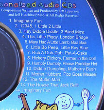 Personalized Nursery Rhyme CD - Child's name over 40 Xs - Makes GREAT Gift