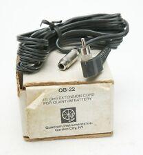 Quantum Extension Cord QB-22 10ft For Quantum Battery 1. Unused. Box & Manual.