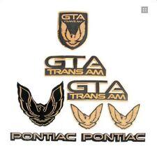 7-piece emblem kit in gunmetal grey for 1987-1990 Trans Am GTA models