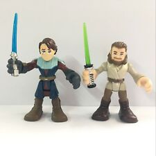 Star Wars Playskool Galactic Heroes Jedi Force QUI-GON JINN & Anakin Skywalker