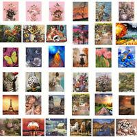 Malen nach Zahlen Kit für Erwachsene Bunt DIY Öl Zeichnen Landschaft Handbemalt