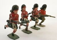 4 Gordon Highlanders Charging-Collectible Toy Soldiers