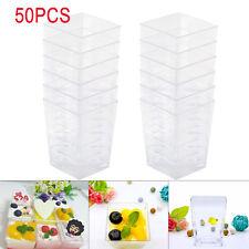 50x120ml Clear Dessert Cups Plastic 4oz Mini UK Clear Sample Shot Party Decor