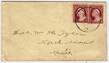 """#26A-3 Cents 1857, 89R10L + 99R10L, """"RAVENNA O."""" - Dr. Tyler, N Adams MA - 1859"""