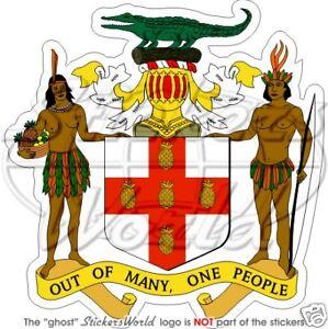 JAMAICA Wappen Jamaikas JAMAIKANISCHE Vinyl Sticker Aufkleber 93mm