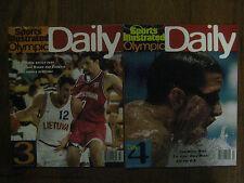 2-1996 Sports Illustrated Olympic Daily (3 & 4)HALIL MUTLU/JANET EVANS/TOM DOLAN