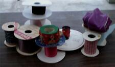 Nice Lot of 12 Partially Used Rolls of Floral Ribbon, GREAT COLORS AND PATTERNS