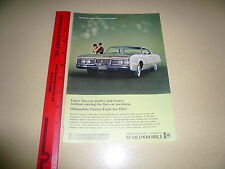 1967 Oldsmobile 98 Ad Advertisement Vintage