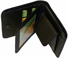 Wallet Men & Women Money Purse Square Leatherette Material Multi Slot Black 2852