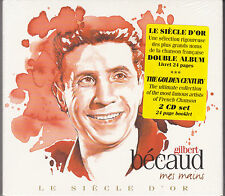 DOUBLE CD DIGIPACK GILBERT BECAUD 56T MES MAINS BEST OF 2009 NEUF SCELLE