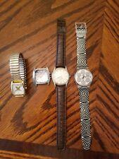 Wrist Watch Lot of 4 Swatch Swiss Louis Vuitton Capezio Virginia Slim