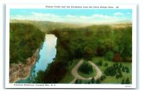 Postcard Ashokan Reservoir, Catskill Mts NY - Esopus Creek & Horseshoe  H34