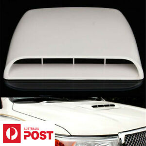 White Car SUV Air Flow Intake Hood Scoop Vent Bonnet Decorative Cover AU SHIP
