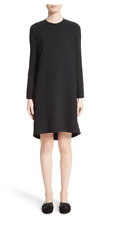 New $855 VICTORIA VICTORIA BECKHAM Gathered Open Back Shift Dress Size US 4 UK 8