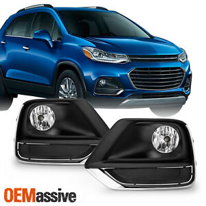 For 2017-2020 Chevy Trax model Bumper Fog Lights Lamp w/Wiring Switch Pair LH+RH