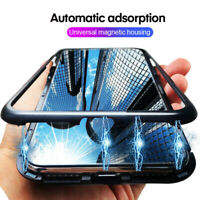 For Xiaomi Redmi Note 9S 8T 10 Pro Magnetic Adsorption Metal Tempered Glass Case