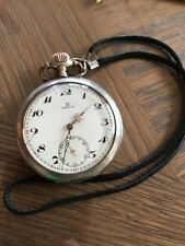 OMEGA Pocket Watch Grand Prix Paris Silver hand winging White Dial 51mm