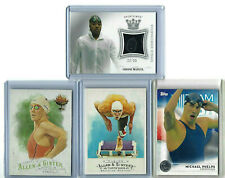 Olympic Swimmers 4 Card Lot w/ Michael Phelps (2 cards), Simone Manuel Relic +