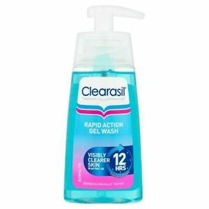 Clearasil Rapid Action Gel Wash 150ml Visibly Clearer Skin Works Fast Spots Acne