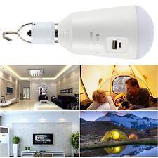 E27 7W 14LED 560LM Solar Panel Power Rechargeable Lamp Emergency Light Bulb