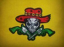 Cowboy Skull Six-guns 4.5'' by 3'' Patch FREE SHIPPING