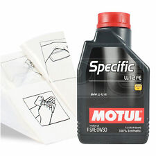Engine Oil Top Up 1 LITRE Motul Specific LL-12 0w-30 1L +Gloves,Wipes,Funnel