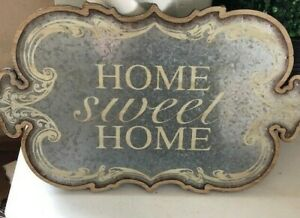 Galvanized Metal, Welcome Sign, Farmhouse Rustic, Indoor/out Wood Hanging Plaque