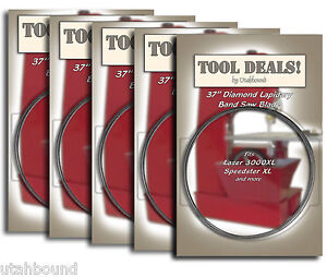 """5 Stainless Steel 37"""" Diamond Lapidary Band Saw Blades"""