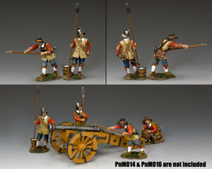 KING & COUNTRY PIKE & MUSKET PNM015 PARLIAMENTARY GUNNERS SET A