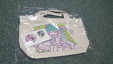 Hatsune Miku Vocaloid- Japan Prize-Tote Bag & Pin Set- Type B- Happy J- New