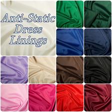 Dress Lining Fabric Anti-Static Polyester Dressmaking Fabric (Per Metre)