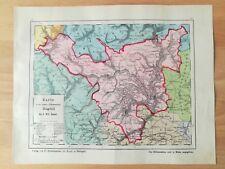 Oberamt Nagold Bauser Hand-Atlas KARTE von 1885 Haiterbach Wildberg Sulz