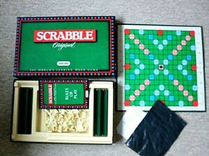 SCRABBLE GAME, SOME TILES REPLACED OTHERWISE ALL COMPLETE. BOXED.