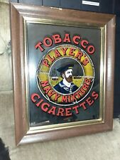 vintage Players Navy Mixture Tobacco And Cigarette Pup Advertising Mirror.