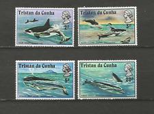 les baleines Tristan Da Cunha 1975 Y&T N°201 à 204 4 timbres non oblitérés/T4496