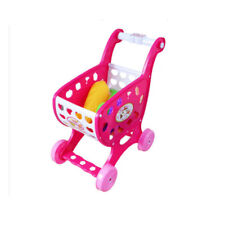 Mini Shopping Trolley Small Cart Kids Food Supermarket Roleplay