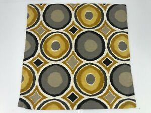 IKEA MURBINKA Pillow Cushion Square Cover 20x20 Gold Gray Circle Diamond