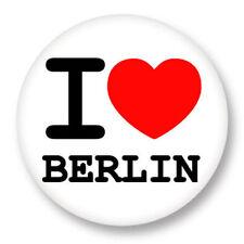 Magnet Aimant Frigo Ø38mm ♥ I Love You j'aime Berlin Allemagne