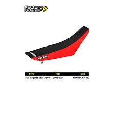 2002-2004 HONDA CRF 450 Red/Black FULL GRIPPER SEAT COVER BY Enjoy MFG