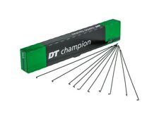 14g (2.0mm) DT Swiss Champion Bicycle spokes & nipples BLACK | Custom Lengths!