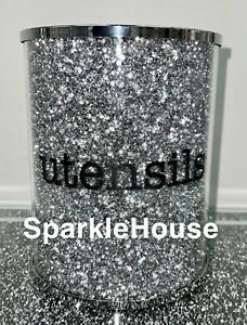 Sparkly Crushed Diamond Crystal Filled Utensil Holder, Kitchen Bling Gift💎✨