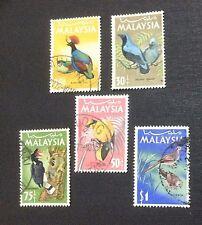 Malaysia 1965 National Bird Series 5v Used